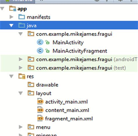 android layout xml structure android adventures fragments and android studio xml