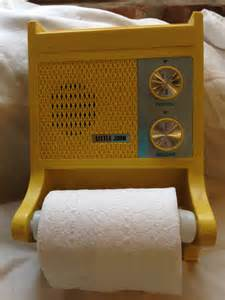 Retro Bathroom Radio Bathroom Radio Toilet Paper Holderreally Works