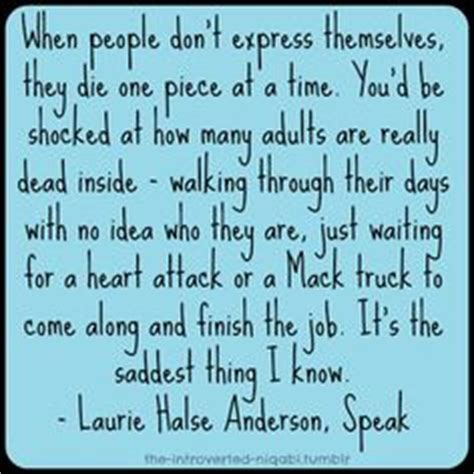 theme quotes from speak by laurie halse anderson speak laurie halse anderson quotes quotesgram