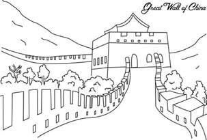 Great Sheets by The Great Wall Of China Coloring Page For Kids
