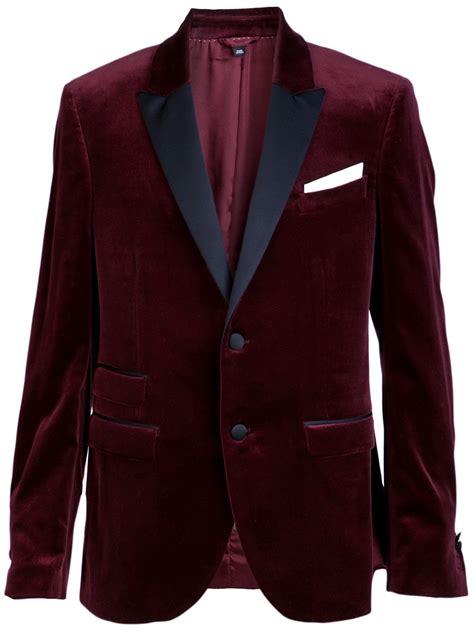 Jaket Blazer Maroon neil barrett velvet blazer in purple for lyst