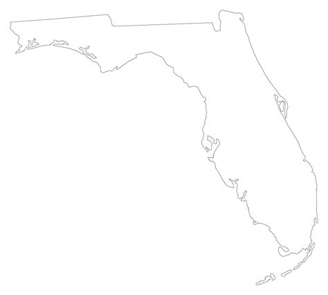 Florida State Outline Png by Florida Quot Plain Frame Quot Style Maps In 30 Colors