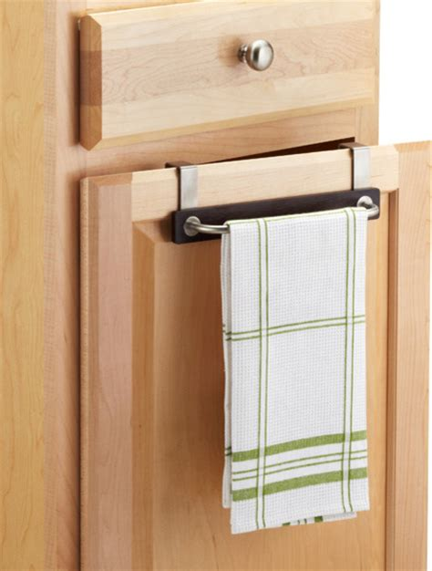 kitchen cabinet towel bar formbu overcabinet towel bar contemporary by the container store