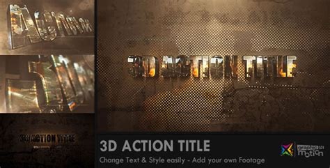 3d text template after effects 3d title opener by graphicinmotion videohive