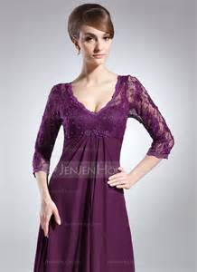 Princess Lace Dress 21844 empire v neck sweep chiffon lace of the