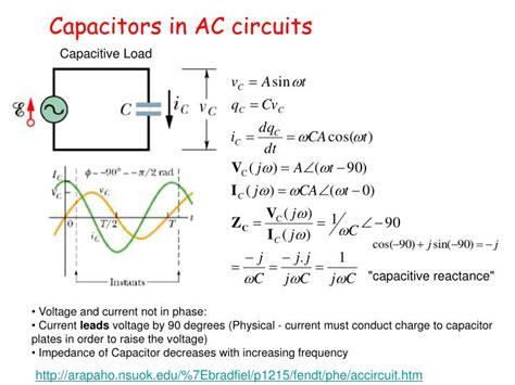 capacitor in ac circuit ppt capacitance in ac circuits tutorial 28 images ac capacitance and capacitive reactance in ac