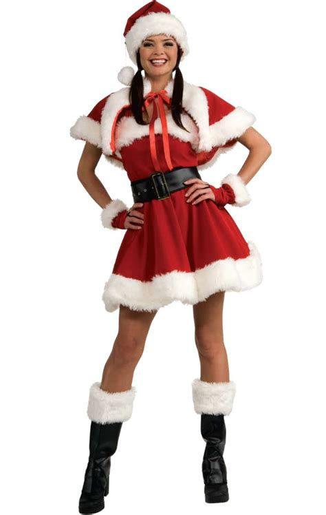 f33 deluxe mrs santa claus christmas fancy dress costume