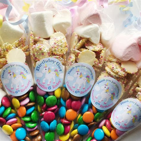 Simple Birthday Decorations At Home by Personalised Unicorn Party Sweet Cones Girls Party