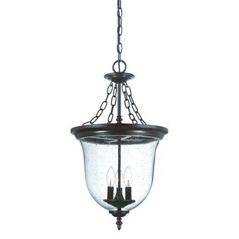 Home Depot Outdoor Light Fixtures Acclaim Lighting Collection 3 Light Architectural Bronze Outdoor Hanging Lantern Light