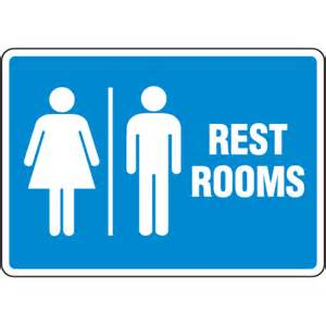signs for rooms facility reminder signs rest rooms from seton stock
