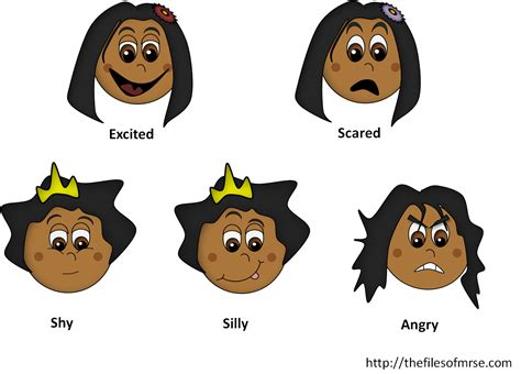 clipart emotions emotion clipart the files of mrs e