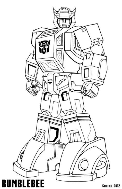bumblebee from transformers coloring pages coloring pages