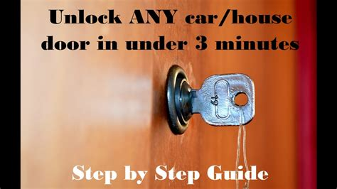 how to unlock a house door without a key how to unlock any door without a key car or house step by step guide in under 3