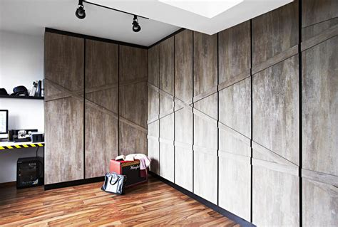 Customised Wardrobe Singapore by An Industrial Hdb Home With A Minimalist Slant Home