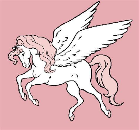 imagenes de unicornios y pegasos para colorear dibujo de pegaso volando pintado por petter en dibujos net