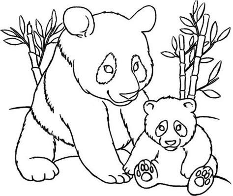 panda family coloring page dibujos tiernos de osos panda para colorear e imprimir
