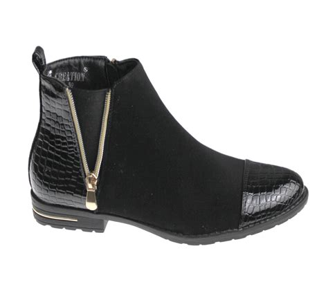 womens ankle boots desert chelsea high top trainer