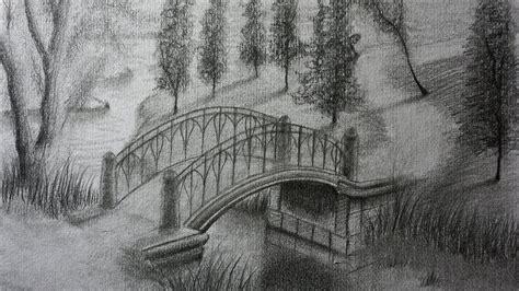 imagenes para dibujar a lapiz de paisajes c 243 mo dibujar un puente a l 225 piz paso a paso paisaje para