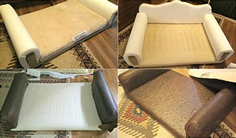 diy dog couch how to diy leather dog sofa and giveaway redo it