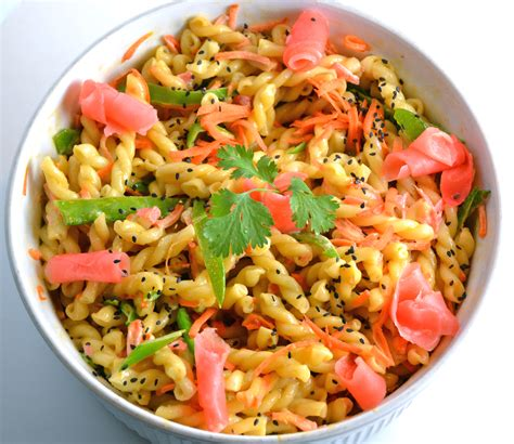 pasta salad recipes with mayo pasta salad with wasabi mayo and pickled ginger enter