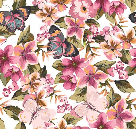 watercolor pattern with purple flowers vector free download vector watercolor flowers free vector download 10 765