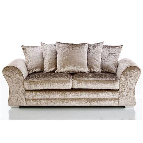 beige crushed velvet sofa crushed velvet sofa beige thecreativescientist