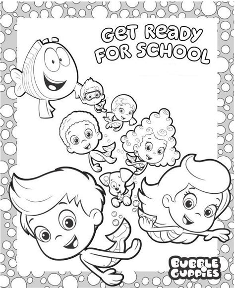 bubble kitty coloring page 5 cute bubble guppies coloring pages big bang fish