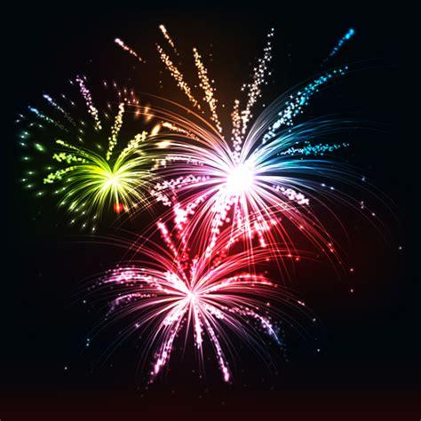 multicolor fireworks holiday vector  vector festival