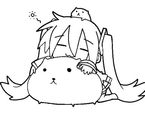 imagenes de hatsune miku kawaii para colorear gatos kawaii anime para colorear