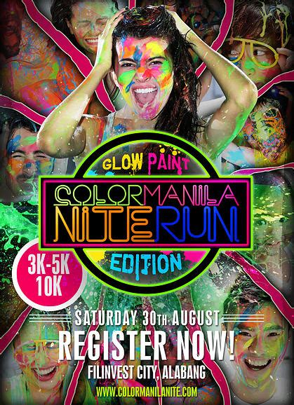 glow in the paint cebu incoming color manila nite run glow paint edition franc