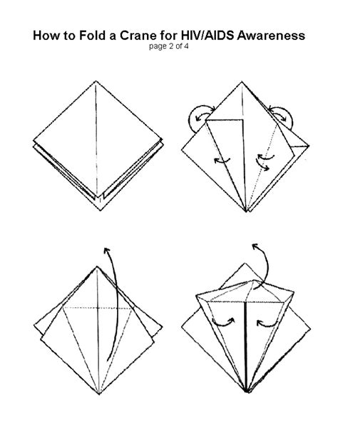 How To Fold An Origami Crane - v zubiri dollman how to fold an aids crane the origami