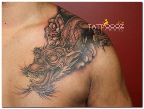 dragon tattoo in chest dragon tattoos japanese dragon tattoo designs dragon