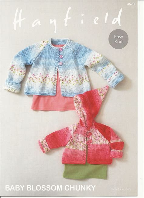 Hayfield Babies Coats Knitting Pattern In Baby Blossom