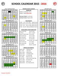 2015 2016 Calendar Template by Hawaii Doe Calendar 2015 2016 Calendar Template 2016