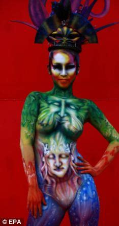 Nternational body painting festival kaleidoscope of colour as artists