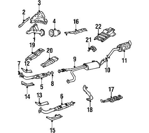 nissan pathfinder exhaust system diagram 2000 nissan pathfinder parts my nissan parts store