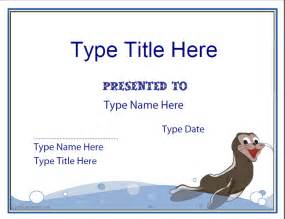 blank certificates swimming certificate template