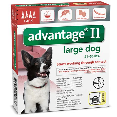 advantage for dogs 21 55 lbs 4 month advantage ii flea large for dogs 21 55 lbs