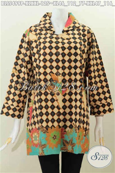 Jual Baju Ukuran jual baju blus ukuran xl busana batik printing kerah