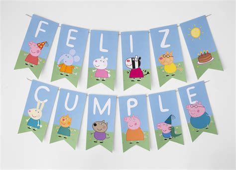 carteles de cumpleaos de pepapig fiestas infantiles kit gratis de peppa pig pequeocio