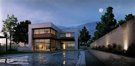 house with pool renders cgarchitect professional 3d architectural visualization