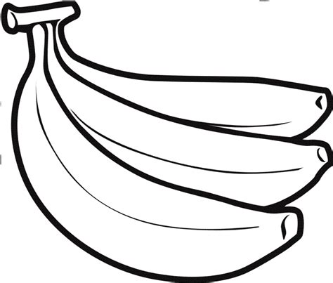 banana template outline3 banana clipart best