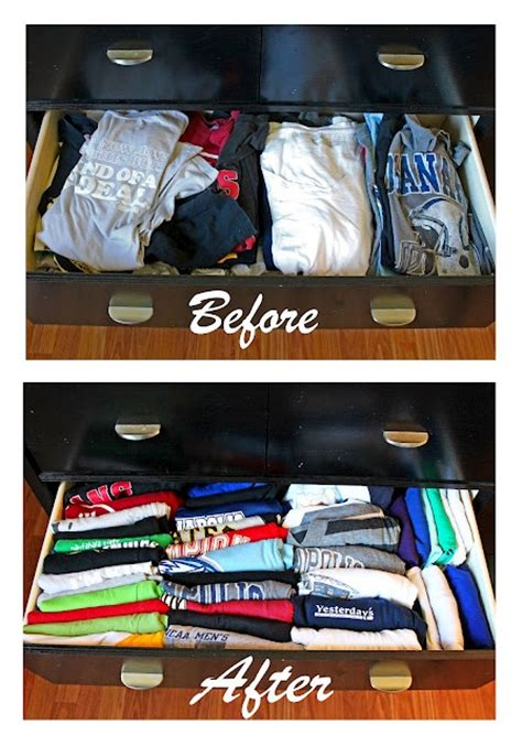 T Shirt Drawer Organization by Organize Your T Shirt Drawer You Re Welcome