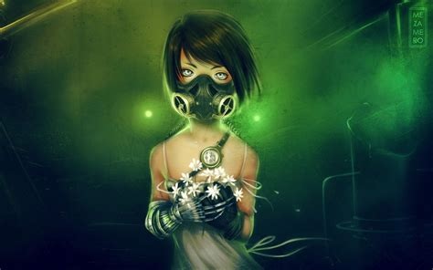 anime girl wallpaper imgur anime girls gas masks walldevil