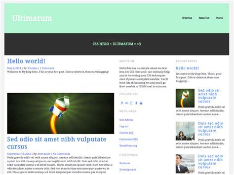ultimatum theme creator ultimatum wp theme framework and css hero