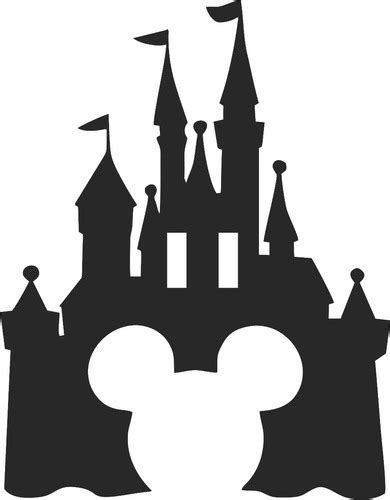 Castelo Mickey Minnie Disney Silhueta Mdf Aniversário
