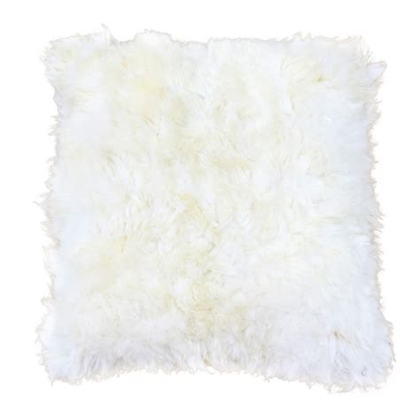 white alpaca fur pillow 30 quot side fur taxidermy