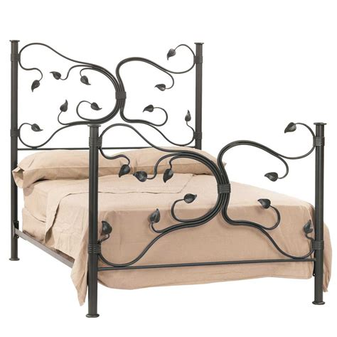 wrought iron king bed frame isle bed