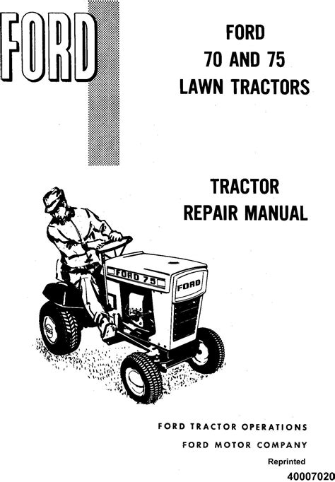 ford tractor   lawn tractor service manual se