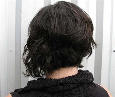 vies of side and back of wavy bob hairstyles asymmetrical bob curly back www pixshark com images